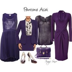 Add some #pantone acai to your wardrobe for a dramatic look for AW13#colour sense
