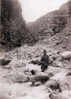 Austro -Hungarian soldier on the mountains. WW I