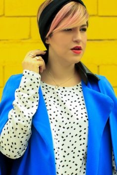 Color Spring 2014 Outfit - Mexican Fashion Blog Nancy Nannuck #yellow #blue #print