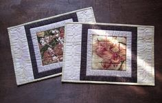 Quilted Placemats Exotic Orchids Set of 2 Mini