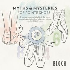 Pointe shoe mysteries by Bloch