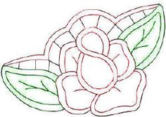 Cutwork Rose Free Embroidery Pattern - KarensVariety.com