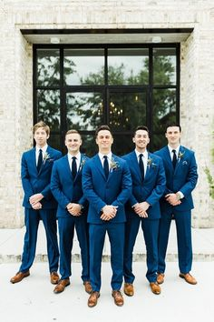 29 Blue Wedding Ideas Inspired by Pantone's Color of the Year - blue groom attire Stephanie Axtell Photography & Videography The Effective Pictures We Offer You About wedding parties gifts A quality p Navy Blue Wedding Theme, Blue Wedding Suits, Wedding Trends, Wedding Ideas, Wedding Inspiration, Rustic Wedding, Groom And Groomsmen Attire, Groomsmen Outfits, Groom Suits