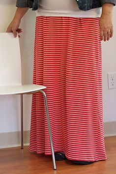 Knit Maxi Skirt - What We're Making by pink chalk studio, via Flickr
