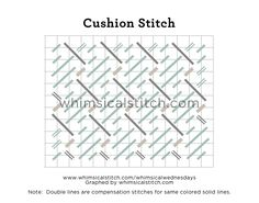 The Cushion Stitch — whimsicalstitch.com It would make excellent animal, tree bark, roof, ground covering, bush, coat or jacket.