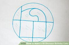 Image titled Make a 3D Dinosaur Birthday Cake Step 1