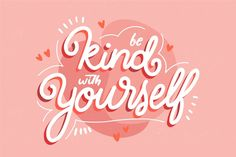 Quote with self-love theme Watercolor Lettering, Hand Drawn Lettering, Lettering Design, Typography Love, Typography Quotes, Typography Letters, Letras Cool, Positive Phrases, Text Background