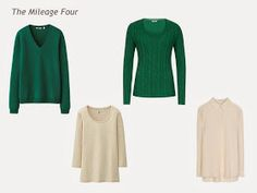 A Four by Four Wardrobe in Navy, Brown, Green and Beige
