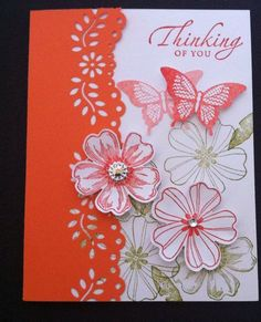 """Card Kit Set Of 4 Any Occasion """"Thinking Of You"""" Stampin Up"""