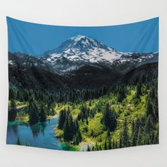 The Mountain is Calling Wall Tapestry