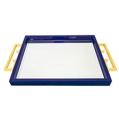 The Indigo Blue Greek Key Tray by Couture emphasizes sophisticated coastal and…