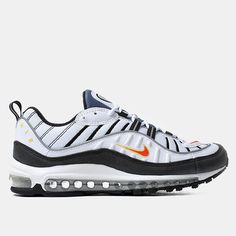 Nike Air Max 98 Shoes - White team Orange Sneakers Fashion 132da5004