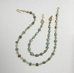 2-3 rd Century Roman Emerald and Gold Necklace