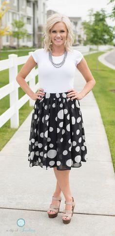 Polka Dot Skirt - 3 Colors | Jane