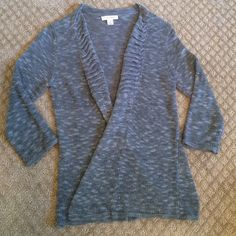 Cozy Blue Cardigan This blue knit cardigan is so soft. Three-quarter length sleeves. Runs small. Christopher & Banks Sweaters Cardigans
