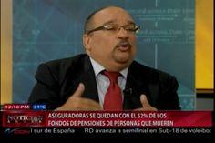Economista Jefrey Lizardo dice que aseguradoras se quedan con el 52% de los fondos de pensiones de las personas que muere