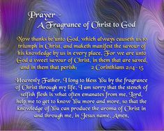 Today's Prayer - A Fragrance of Christ to God