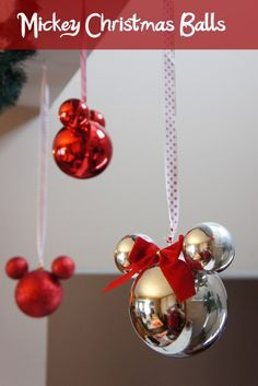 You'll never look at Christmas ornaments the same way again after seeing how easily they can be transformed into a classic Mickey.