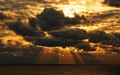Sun Rays at Sea