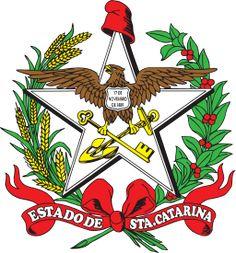 Brazilian Coat of Arms - O brasão de armas do Estado de Santa Catarina foi estabelecido pela lei n. 126, de 15 de agosto de 1895, com base no desenho de Henrique Boiteux.1 A mesma lei estabeleceu também a Bandeira do Estado.