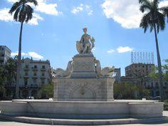 """Fuente  de la India Habana Cuba .Marble fountain in """" Parque de la Fratenidad"""""""