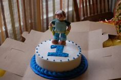 Handy Manny individual 1st bday cake