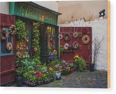 Flower Shop In Prague Wood Print by Jenny Rainbow. All wood prints are professionally printed, packaged, and shipped within 3 - 4 business days and delivered ready-to-hang on your wall. Choose from multiple sizes and mounting options. Art Prints For Home, Home Art, Fine Art Prints, Multiple Exposure, New Wave, Prague, Wall Signs, Wood Print, Fine Art Photography