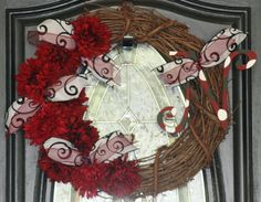 South Carolina Gamecock Monogrammed Wreath by hgab129 on Etsy, $40.00