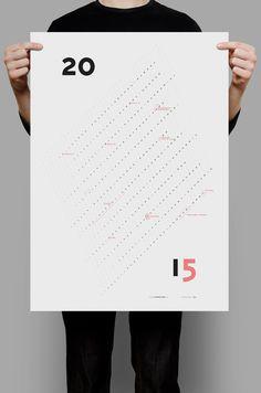 Calendar 2015 – graphic design, wall poster calendar, personalizable