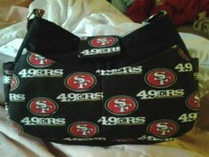 my mother in law made me this 49ers purse! :D #49erpurses