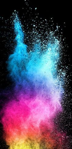 Abstract Colorful Powder with Dark Background for Samsung Galaxy S9 Series Wallpaper - HD Wallpapers | Wallpapers Download | High Resolution Wallpapers
