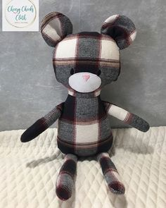 This little guy was totally out of my comfort zone but something Ive been wanting to make forever. He is a memory bear made from some of my fathers clothes that I had kept after he passed. Im glad I finally got him made. #memorybear #alwaysinmyheart #missyoudad #alwaysandforever #handmadewithlove @heidiandfinn #minipalsdoll #teddybear