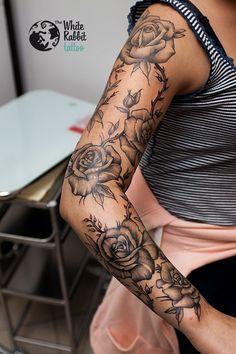 Znalezione obrazy dla zapytania tatuaż rękaw wzory
