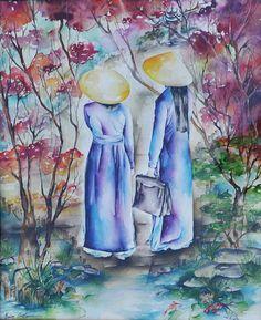 Jardin aux carpes Koï | da marionconstanceartistepeintre