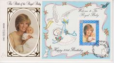 BENHAM SILK ISLE OF MAN FIRST DAY COVER FDI 1982 ROYAL BABY WILLIAM DIANA 21ST