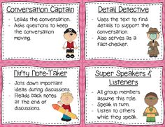 Conversation Task Cards - These cards provide students with different roles…