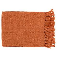 """Add some soft, beautiful style to your home with the Surya Tilda Throw (59"""" x 51""""). This cozy woven throw blanket is constructed of soft acrylic with end tassels for a fun touch. Available in various eye-catching yet neutral shades, you can pick out whichever one matches the color scheme of the room where you'd like to put it. This acrylic throw also makes a great blanket for guests, outdoor picnics, tailgating, camping or any other adventure you can think of."""