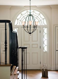 Idea Center: How to select and measure for the right size and type of fixture for a foyer or entry way.  By Hinkley Lighting, Lighting 101.  #NorthwestLightingandAccents