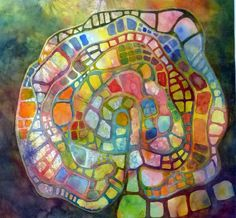 Plum Gallery: October 2011  Labyrinth by Carloyn Rondthaler. Watercolour.