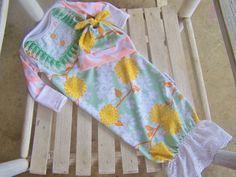 Vintage Modern Girls Upcycle Newborn Gown by JoyfulGirlBoutique, $34.50