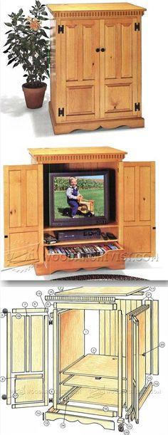 TV Cabinet Plans - Furniture Plans and Projects | WoodArchivist.com