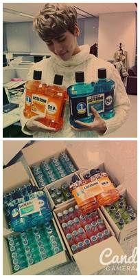 ketika jonghyun SHINee beralih profesi menjadi sales produk listerin >< XD