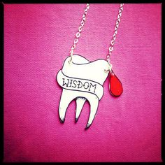 Wisdom Tooth Traditional Tattoo Necklace by RotandRollJewellery, £7.00