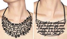 Read it, Wear it, Live it text, letter, art, book, bible verses, necklaces, movie quotes, literary quotes, harry potter quotes