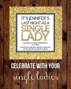 Single Lady Bachelorette Party Invitation by DaintyPrintables