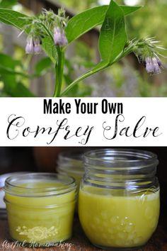 Make Your Own Comfrey Salve - Artful Homemaking