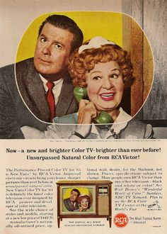 RCA TV Ad, April 1964 — Don DeFore & Shirley Booth in Hazel (1961-65, NBC & 1965-66, CBS)