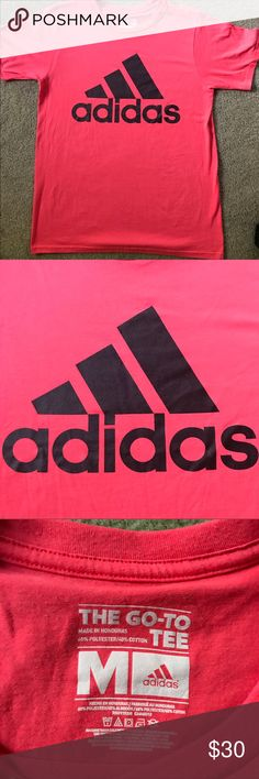 Adidas T-Shirt New, soft material, pinkish coral color! The best tshirt, but wrong size for me🙁 fits big!!!! adidas Tops Tees - Short Sleeve