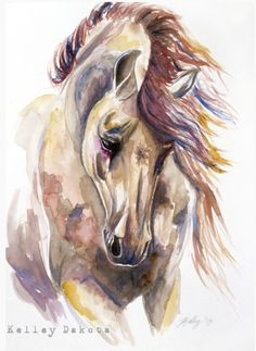 Colored Horse  Prints available here:  www.society6.com/KelleyMeredithArt