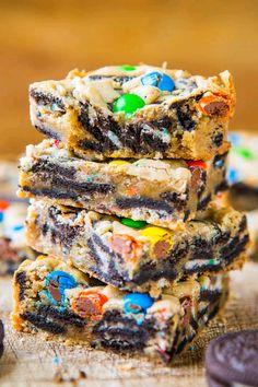 m&m/cookies n' cream blondies!